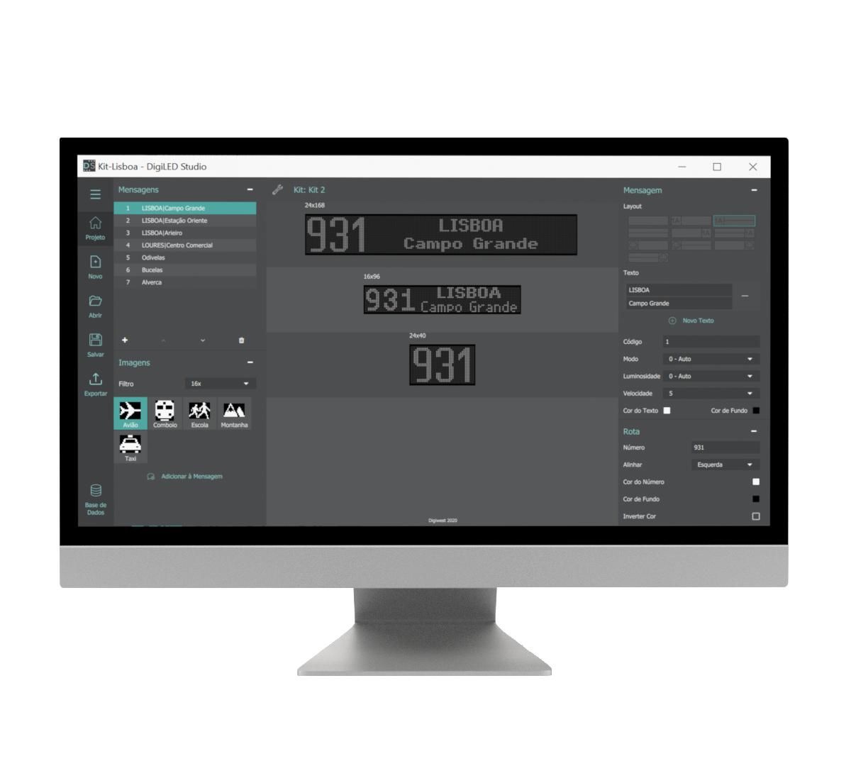 Aplicação DigiLED Studio